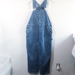 Vtg Route 66 embroidered embellished overalls 18 W